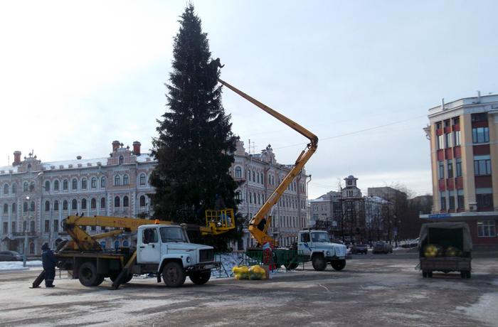 Вологда прощается с Новым годом