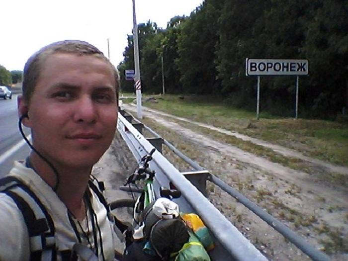 Вологодский путешественник добрался на велосипеде до Чёрного моря