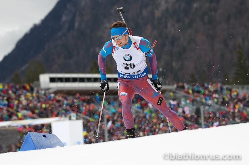 Максим Цветков занял 19 место в масс-старте на этапе Кубка мира по биатлону
