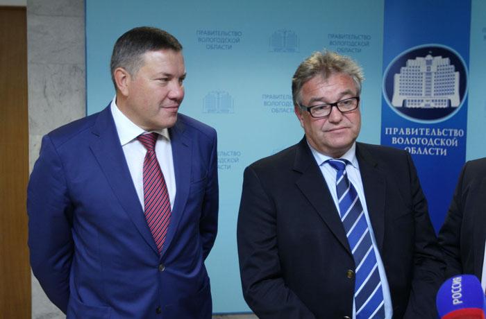 Бизнесмены из Германии заинтересовались сотрудничеством с Вологодской областью