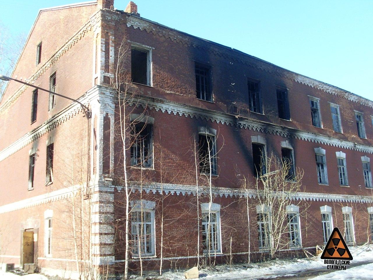 МЧС: Пожар в Красных казармах в Вологде устроил бомж