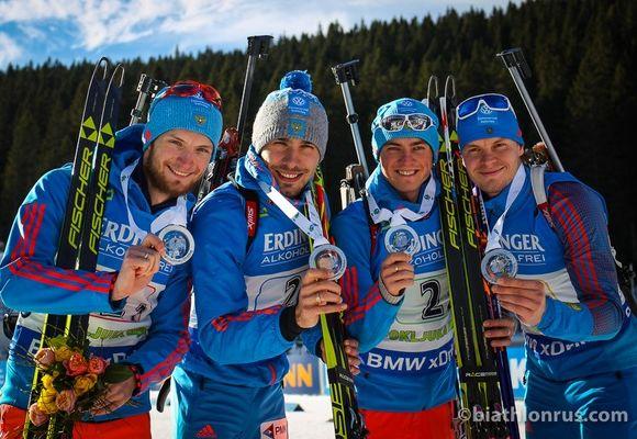 Биатлонист Максим Цветков завоевал серебро на этапе Кубка мира