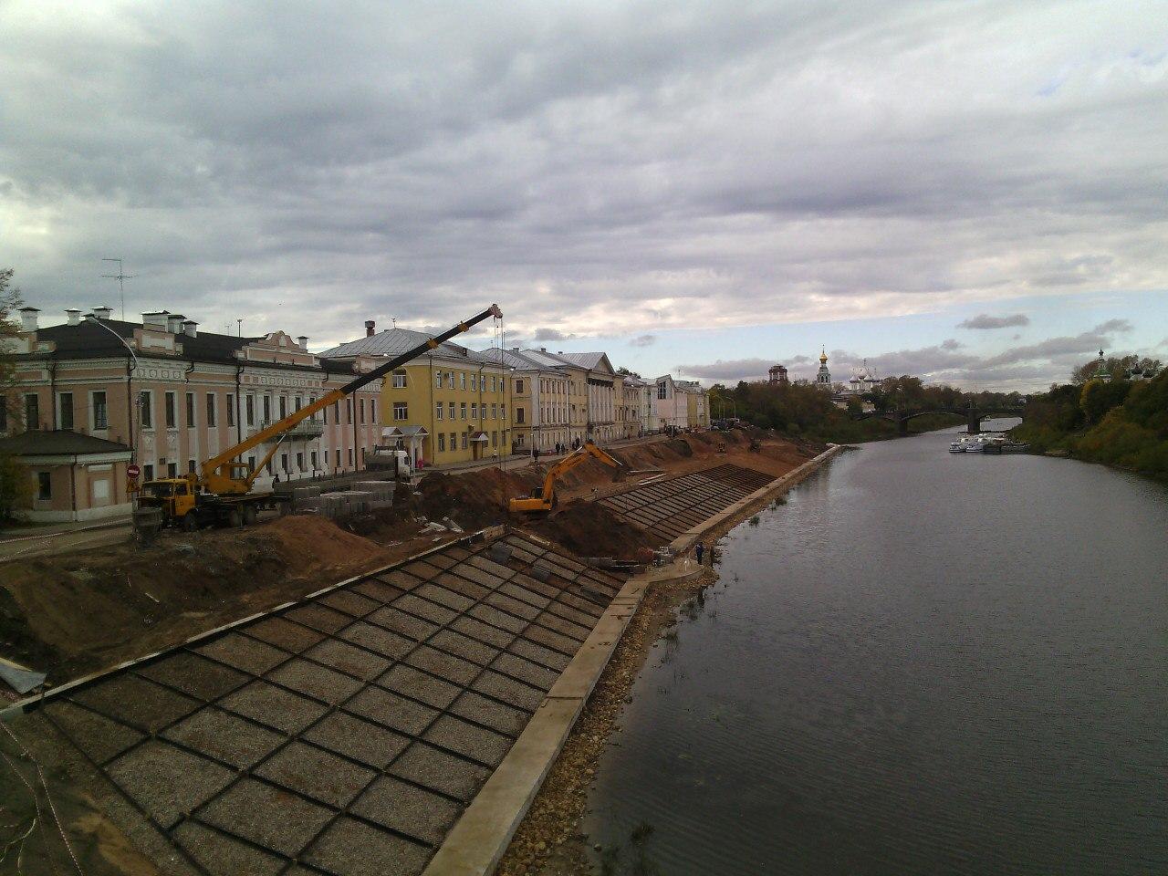 Пречистенскую набережную Вологды забетонируют от моста до Золотухи
