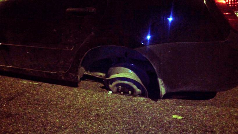 В Вологде пьяный водитель уехал с места ДТП: его остановили стрельбой по колесам