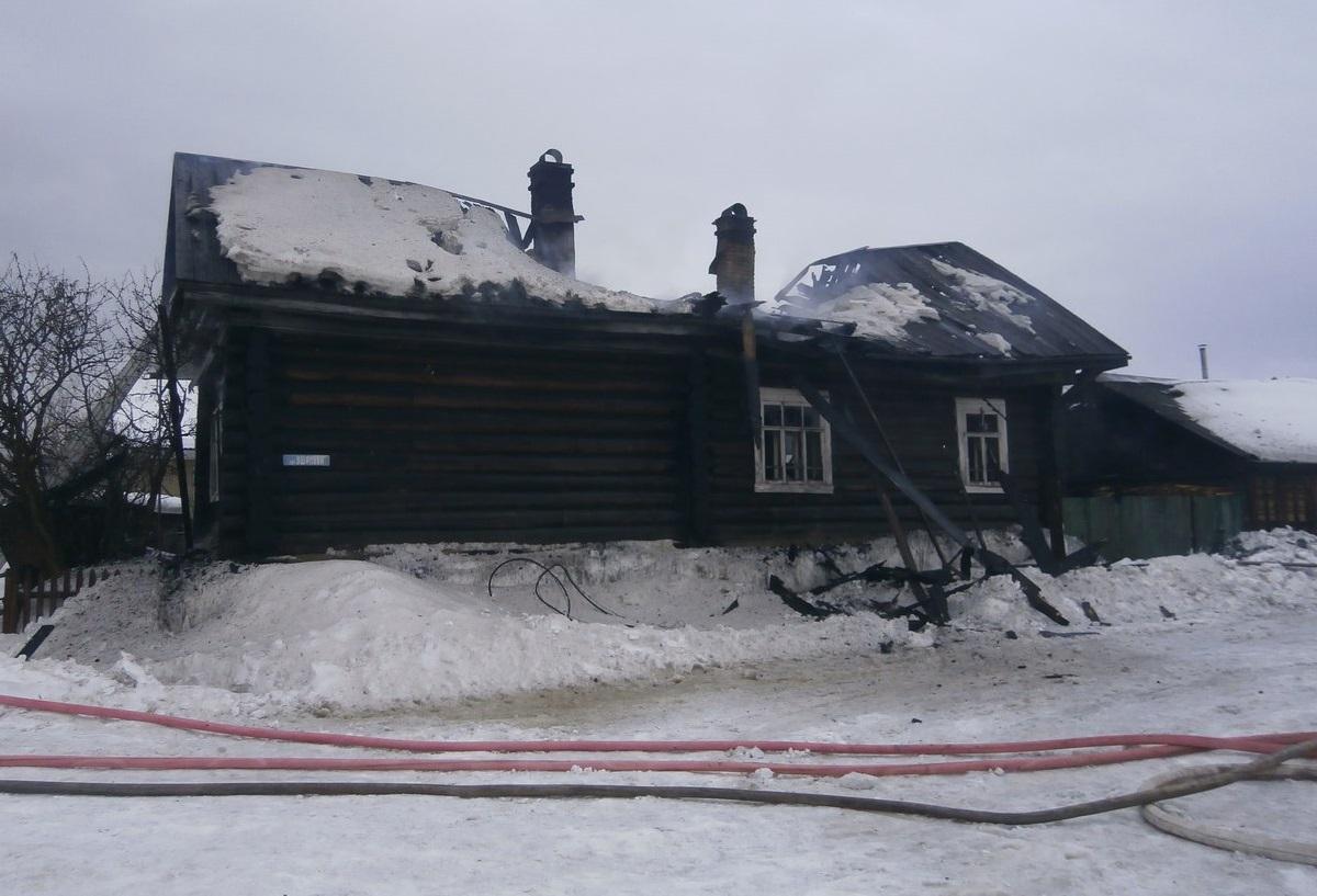 В Великоустюгском районе во время пожара погиб инвалид