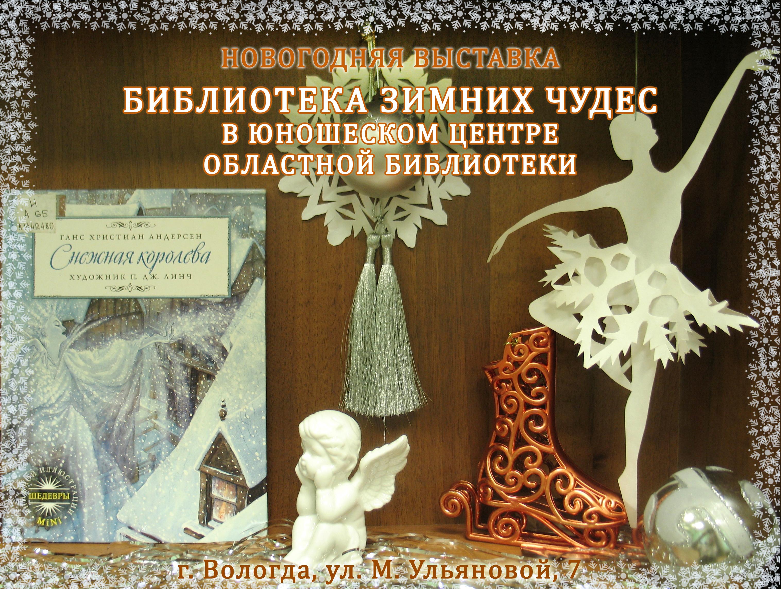 """Вологжан приглашают на выставку """"Библиотека зимних чудес"""""""