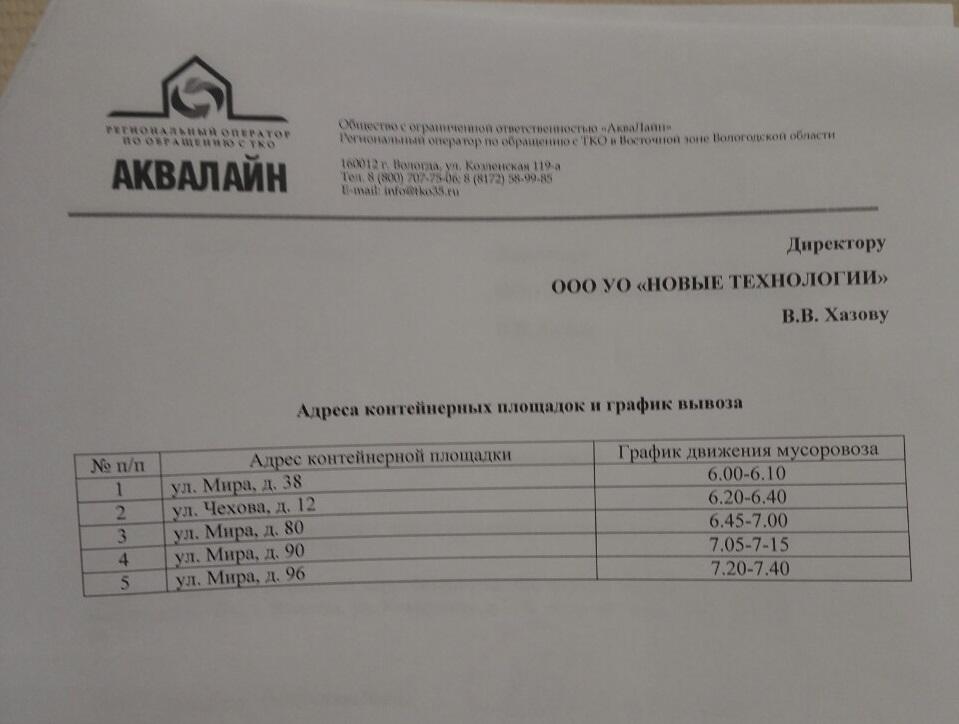 Жильцам нескольких домов в Вологде велели копить мусор у себя в квартирах