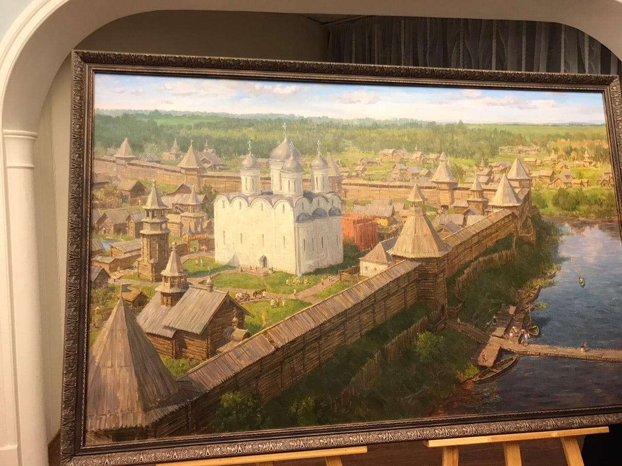 В Вологде презентовали картину, изображающую город в XVIIвеке