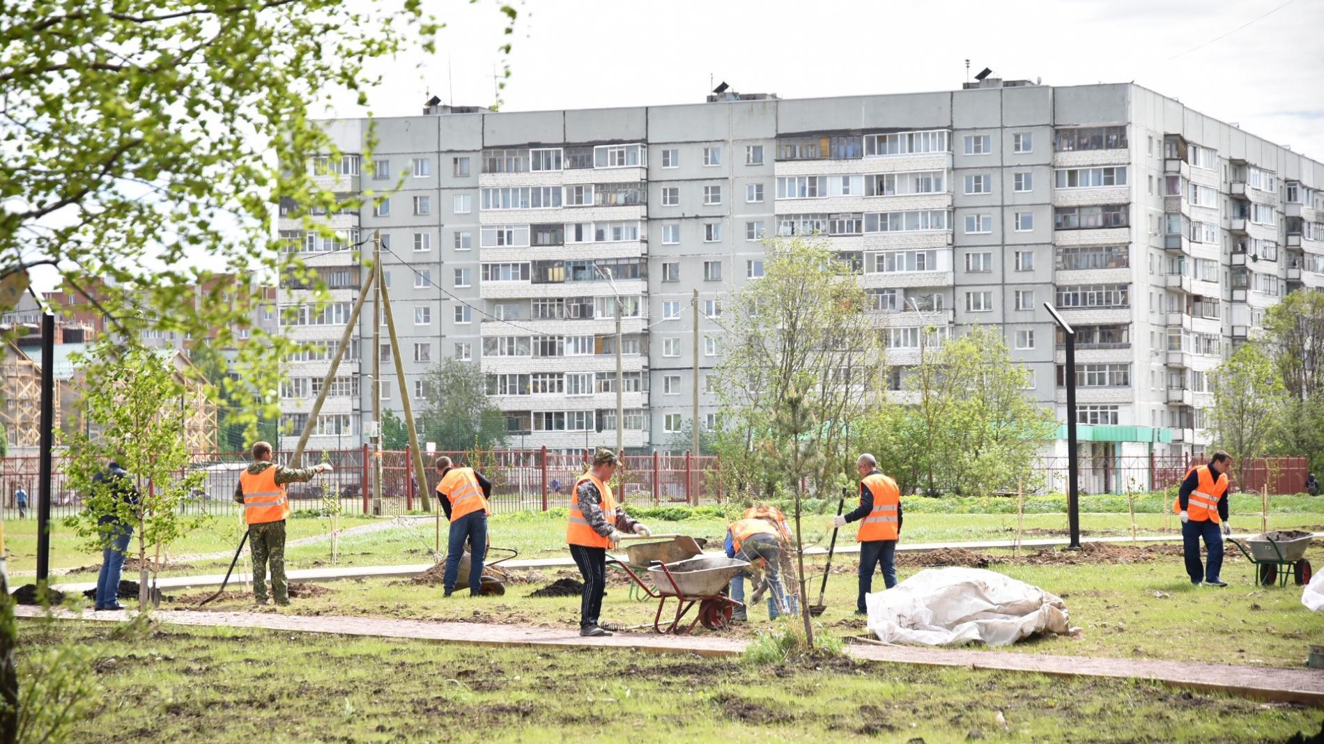 Подрядчик начал гарантийный ремонт во Фрязиновском парке Вологды