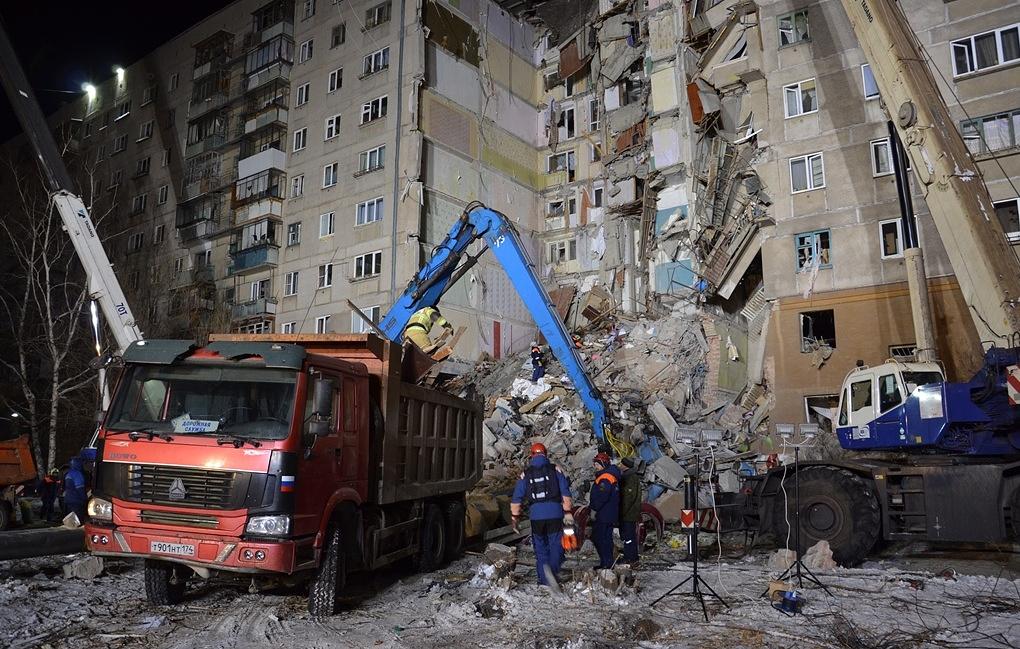 Под завалами обрушившегося из-за взрыва газа дома в Магнитогорске нашли восьмого погибшего