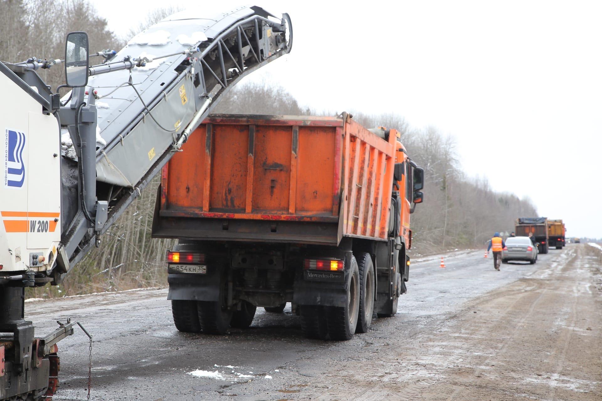 На трассе Чекшино-Тотьма начались ремонтные работы