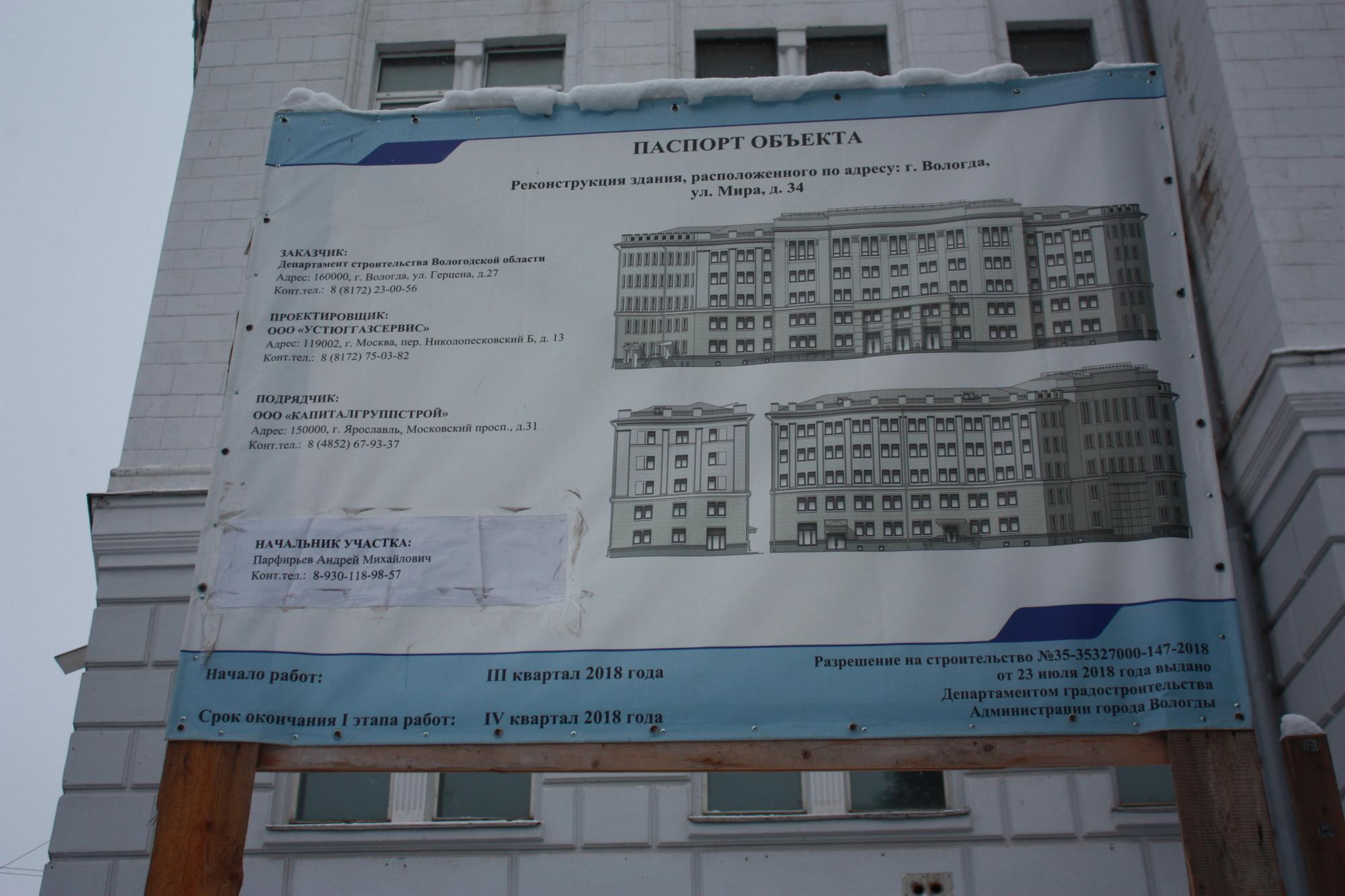 В Вологде четвертый раз перенесли срок реконструкции здания для картинной галереи