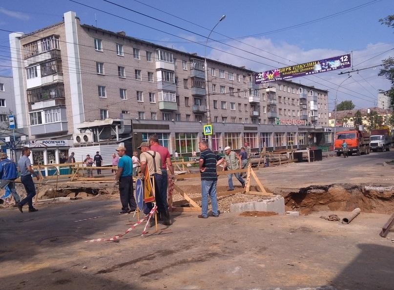 Ремонт теплотрассы на улице Герцена в Вологде завершат к 16 сентября