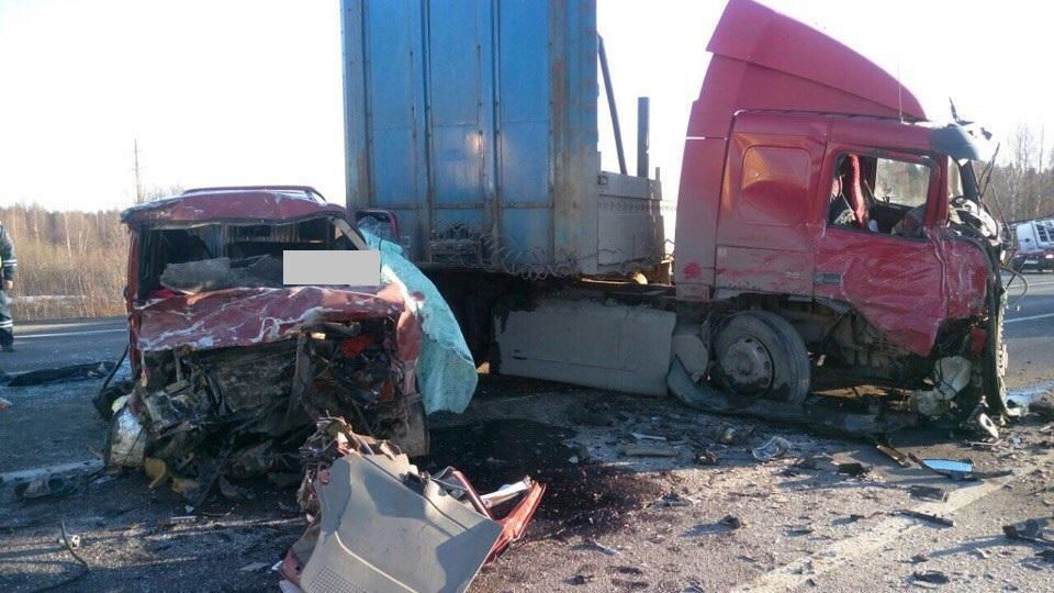 В Череповецком районе микроавтобус столкнулся с фурой: погибли семь человек
