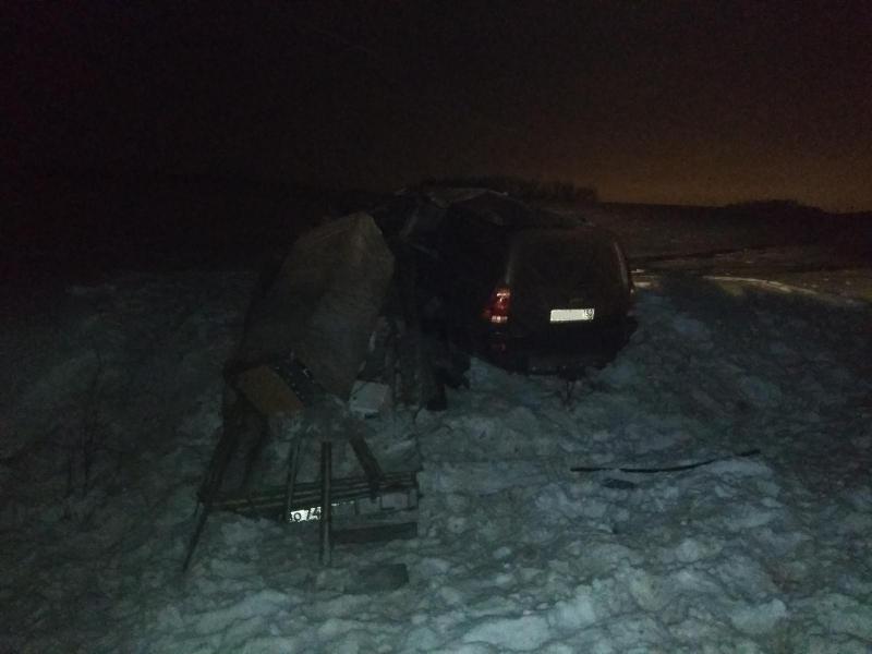 В Вологодском районе водитель Тойоты погиб, врезавшись в Фольксваген