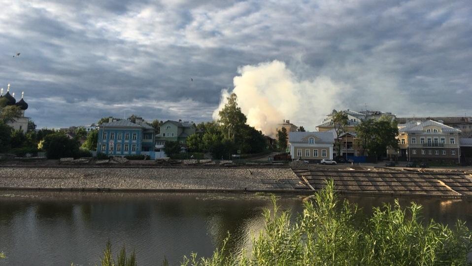 В Вологде в третий раз загорелся выявленный памятник архитектуры на улице Гоголя