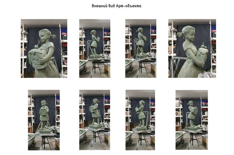 Скульптуру девочки с бисквитом установят на улице Карла Либнехта в Череповце