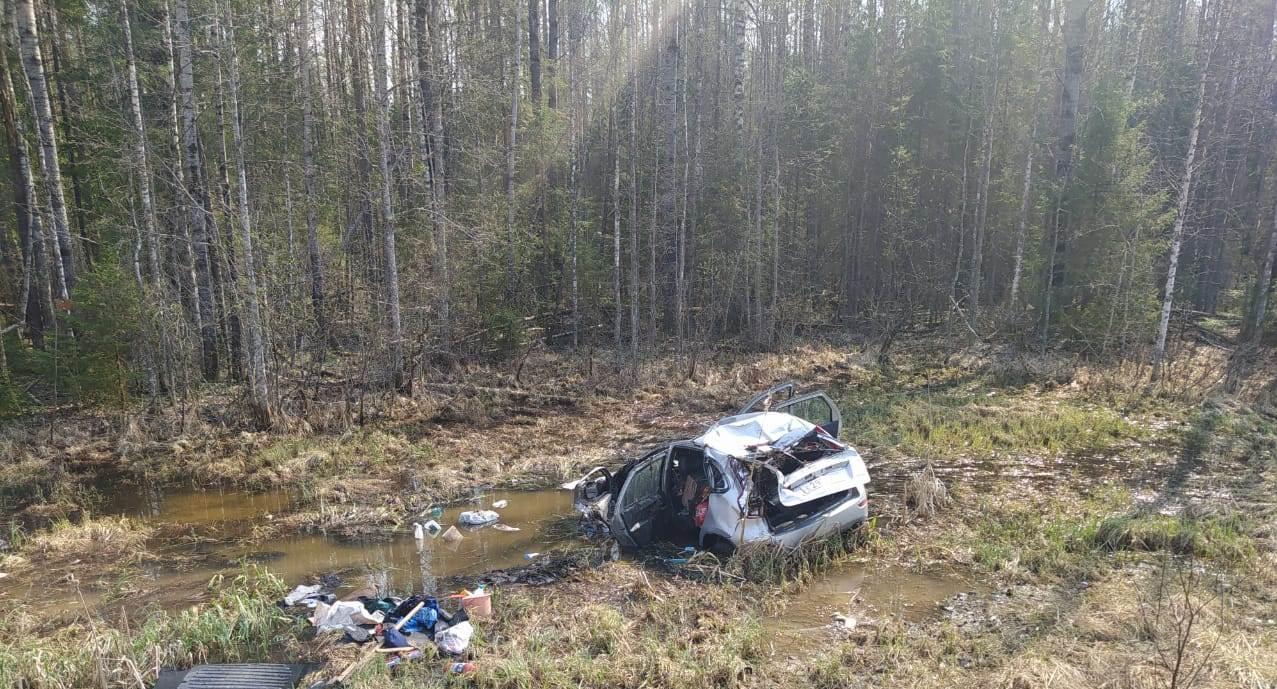 ВВеликоустюгском районе 81-летний водитель «Лады» вылетел вкювет ипогиб