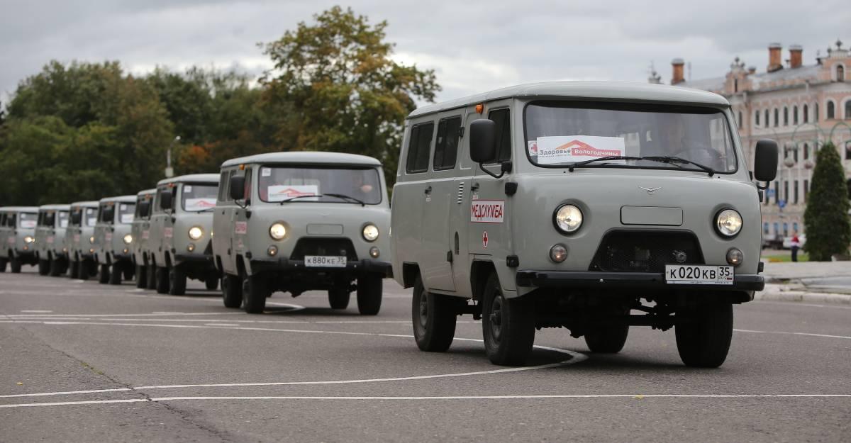 28 новых санитарных автомобилей закуплены для опорных ФАПов в районах Вологодской области