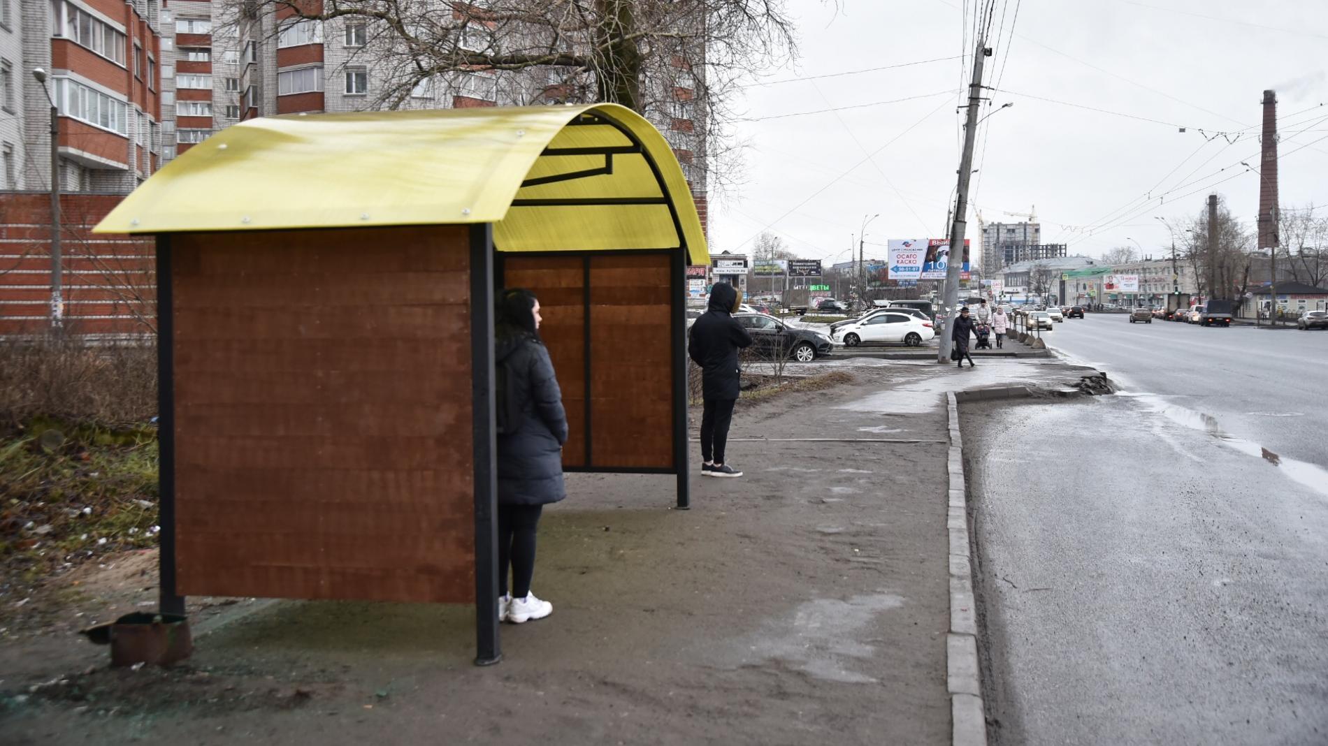 13 новых остановок смонтируют в Вологде до конца года