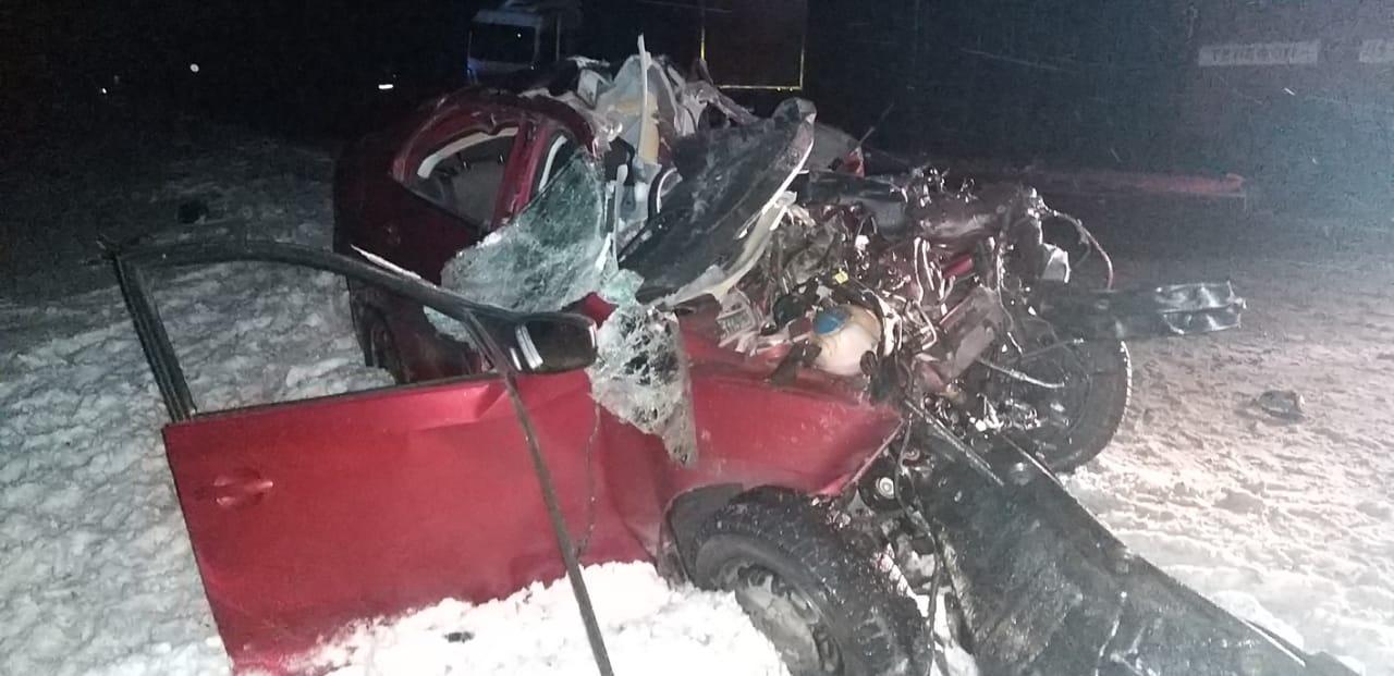 Мужчина и ребенок погибли в ДТП на трассе в Сямженском районе