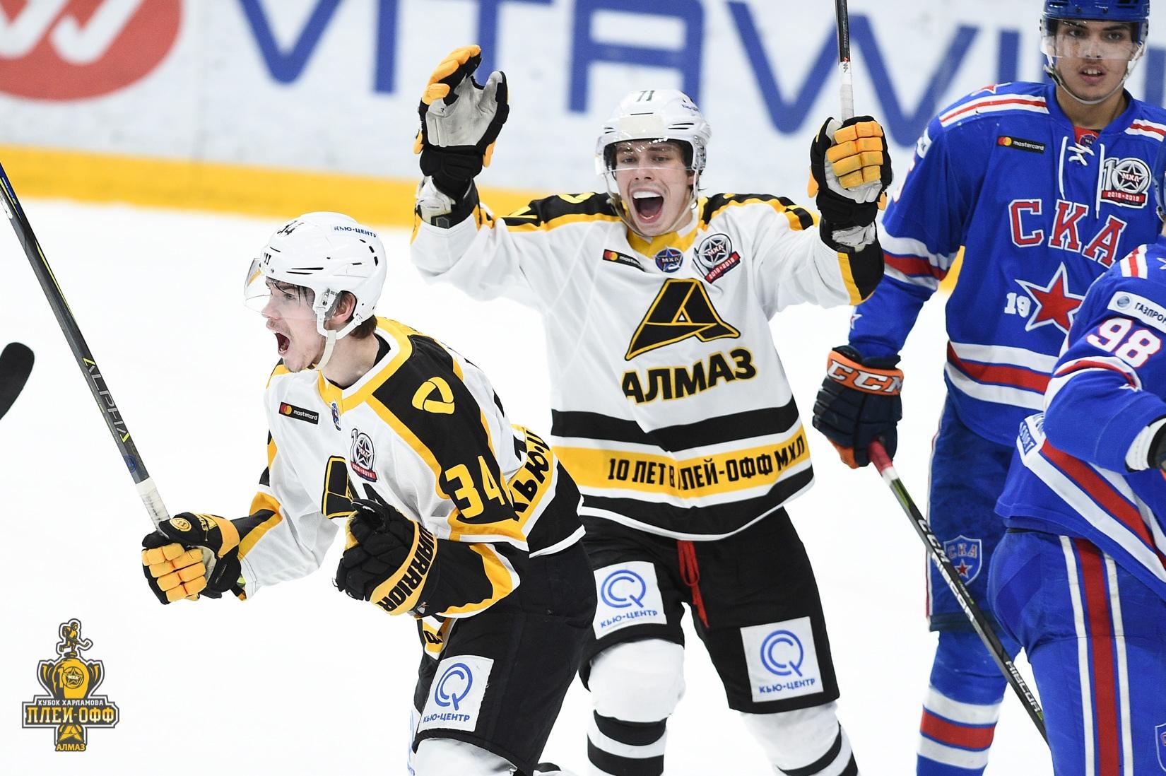 Череповецкий «Алмаз» дважды уступил «СКА 1946» в четвертьфинале Кубка Харламова