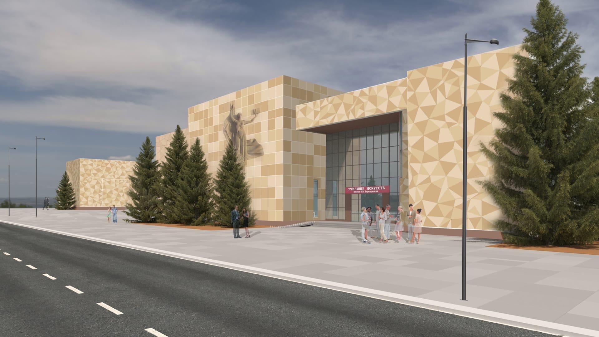 В соцсетях раскритиковали проект нового фасада училища искусств в Череповце