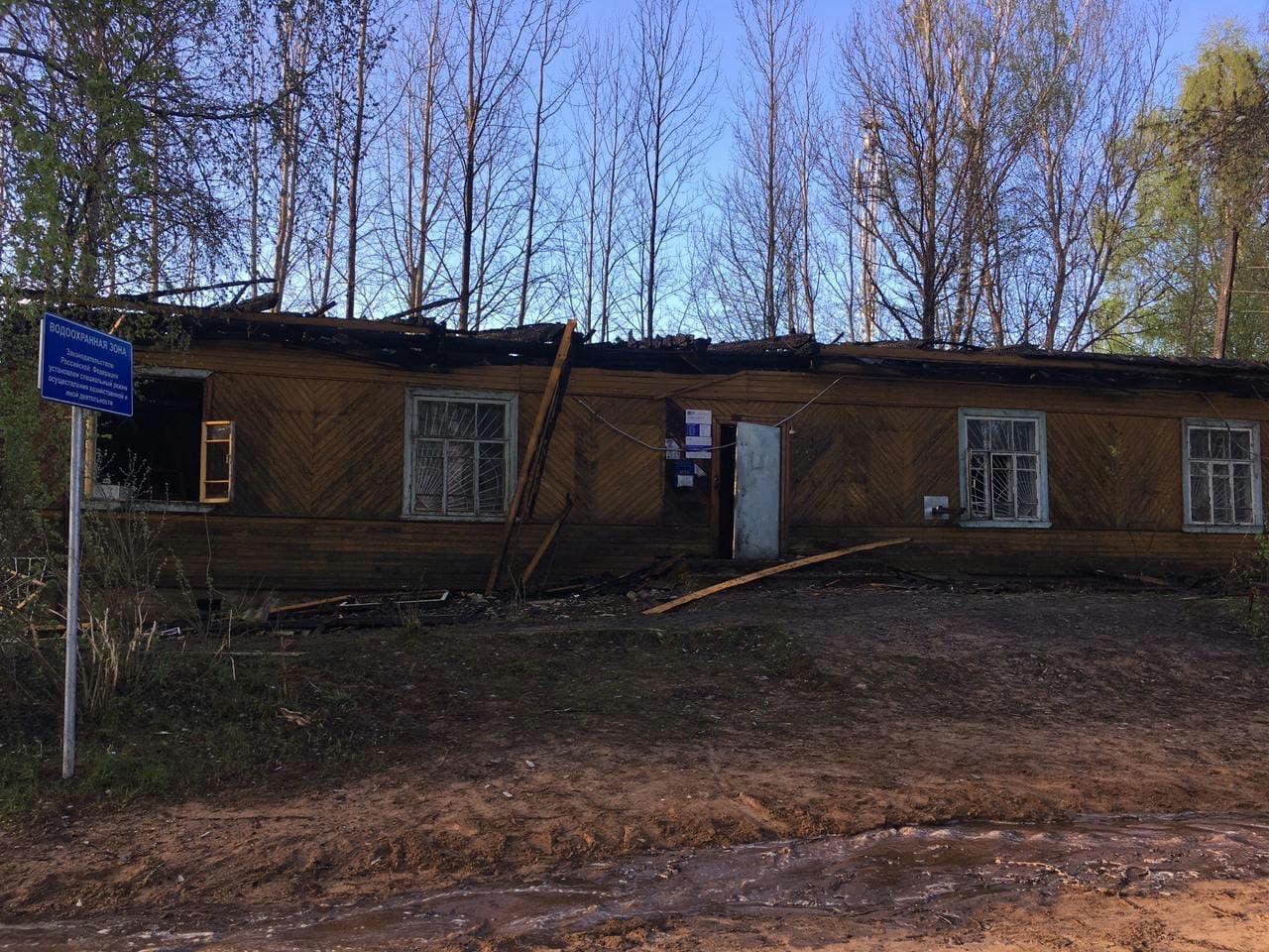 В Устюженском районе подожгли отделение почты