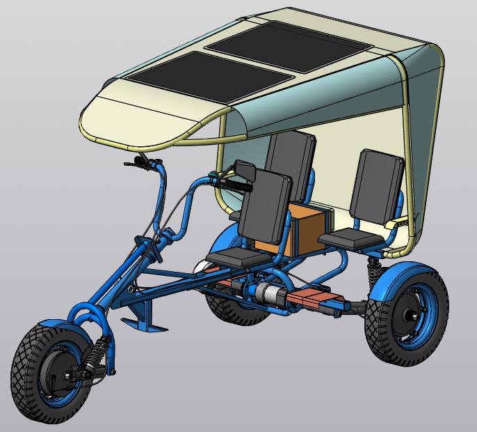 Вологодские студенты разработали проект велорикши на солнечной энергии