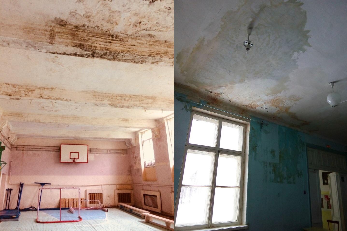 Капитальный ремонт крыши в школе