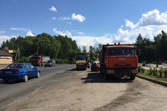 До конца июля в Соколе отремонтируют улицу Советскую