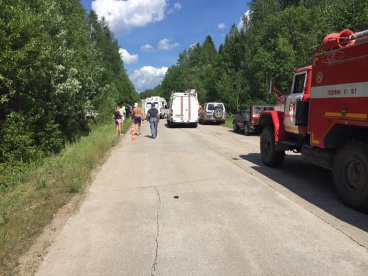 Под Череповцом рейсовый автобус съехал в кювет: четыре человека пострадали