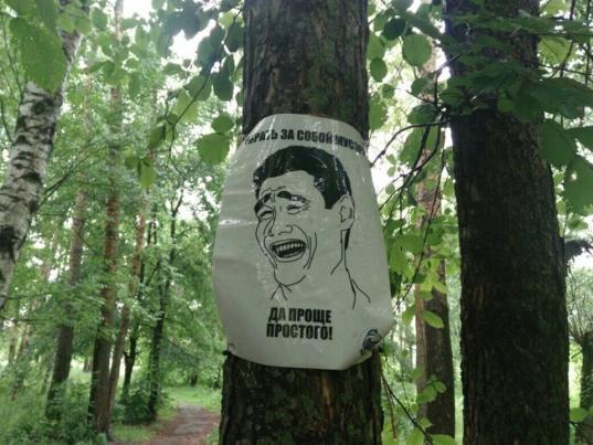 В Вологде с залежами мусора решили бороться с помощью мемов