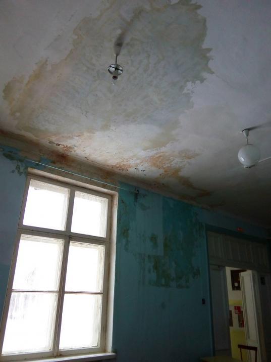"""""""Бесхалатность просто зашкаливает"""": родители требуют ремонта школы в Молочном с протекающей крышей"""