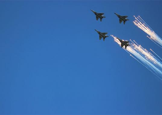 В День победы над Вологдой собираются пустить военные самолеты