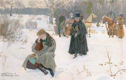 Серию иллюстраций к «Евгению Онегину»  покажут на выставке в Вологде