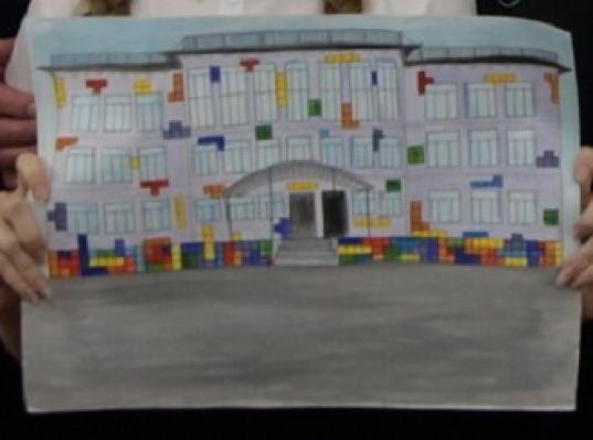 Фасад Чагодощенской средней школы оформят в стиле игры «тетрис»