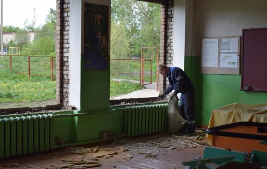 Капремонт школы в поселке Малечкино Череповецкого района обещают закончить к 1 сентября
