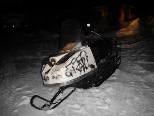В Грязовецком районе пьяный мужчина угнал с пилорамы снегоход, чтобы покататься