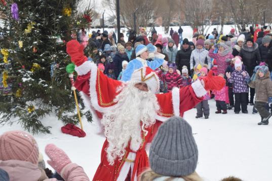 Чай из самовара и два Деда Мороза: во Фрязиновском парке в Вологде встретили Рождество