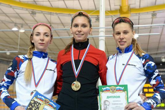 Череповчанка Евгения Лаленкова завоевала золото Всероссийских соревнований по конькобежному спорту
