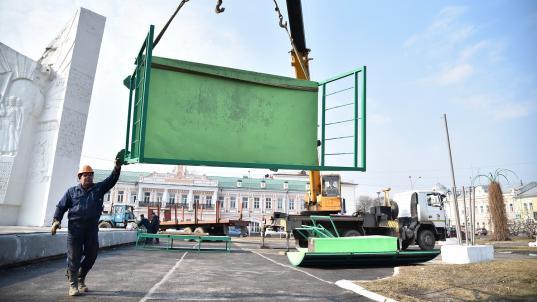 В центре Вологды снова установили рампу для уличных видов спорта