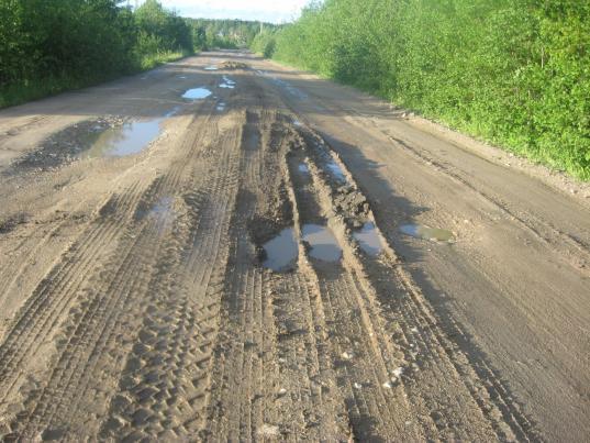 Дорогу Вожега-Ерцево, строительство которой было заморожено в 2002 году, обещают достроить спустя 18 лет