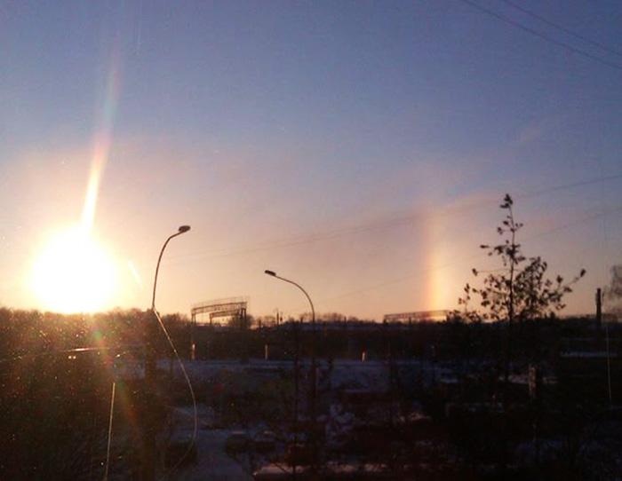 Необычное природное явление наблюдали жители Вологды в первый день нового года