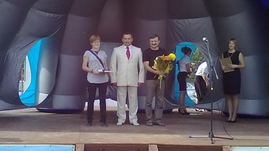Поздравления на сцене