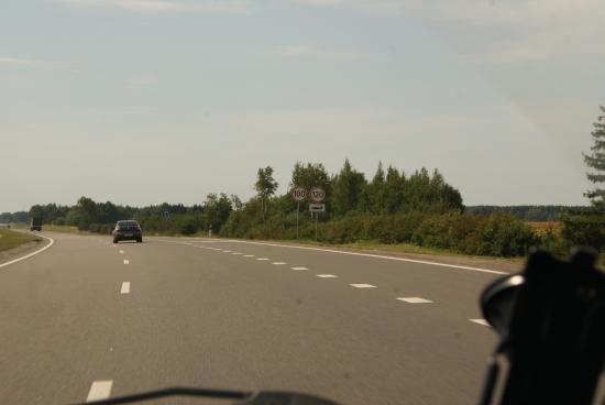 Ограничение скорости - 120 км/ч!