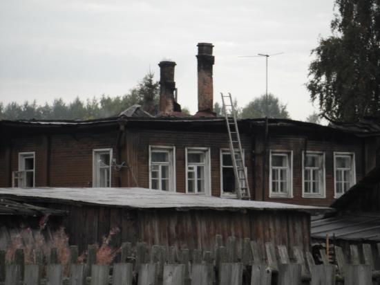 Дом загорелся в ночь с 1 на 2 сентября 2011 г.