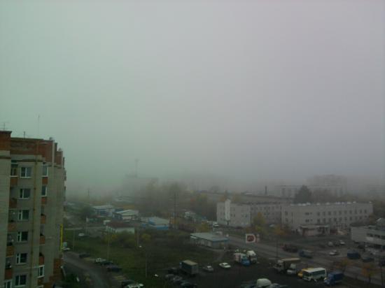 а обычно из нашего окна площадь Кремлевская видна и Софийский собор