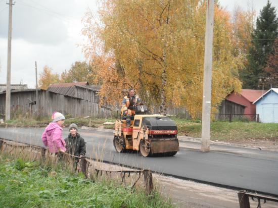 идёт строительство новой дороги