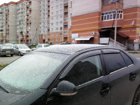 Первый снег в Вологде